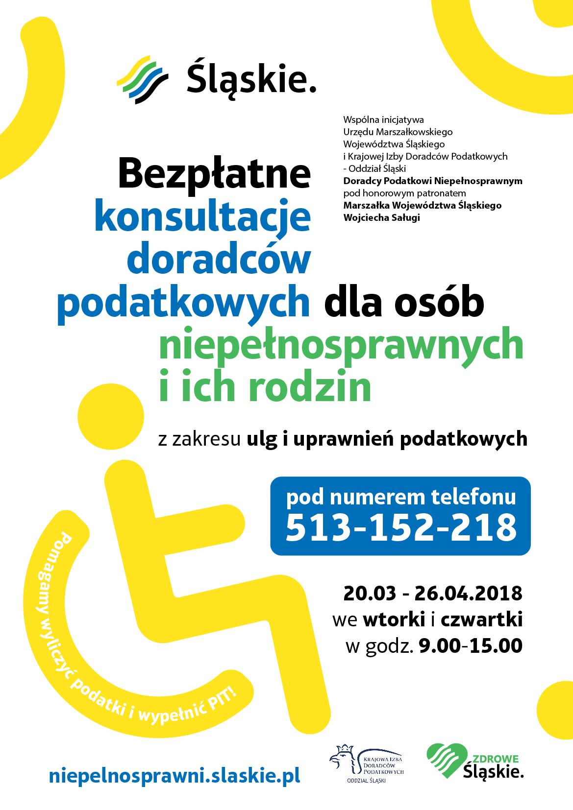 Bezpłatne konsultacje doradców podatkowych dla osób niepełnosprawnych